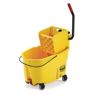 RUBBERMAID Mop Bucket and Wringer,11 gal.,Yellow, FG618688YEL, Yellow