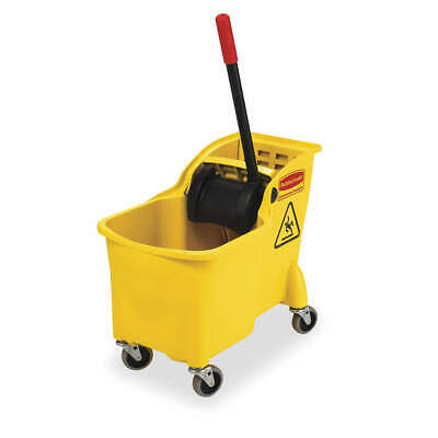 RUBBERMAID Mop Bucket and Wringer,7.75 gal.,Yellow, FG738000YEL, Yellow