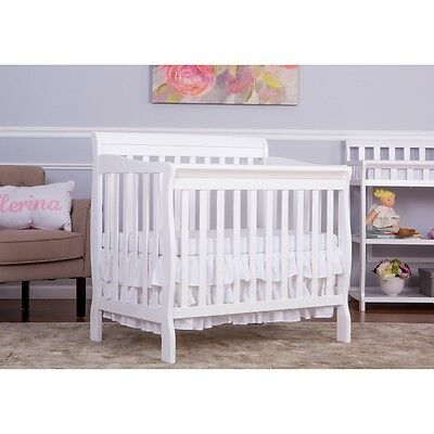 Dream On Me 4 In 1 Convertible Mini Crib White Nib Brand New Style #628