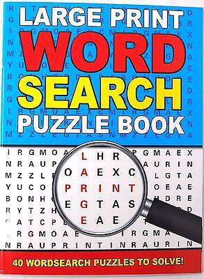 A4 Blue Large Print Word Search Puzzle Book - Fun Travel Solve Wordsearch Games