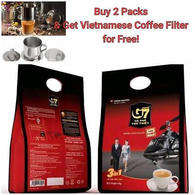 Vietnamese 2 Pack/100  G7 Trung Nguyen Instant Coffee 3n1 Famous Premium Coffee