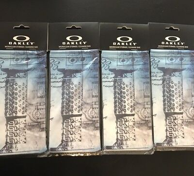 (4) OAKLEY Sunglasses Microfiber / Cleaning Bag MUSEUM GRIP LIMITED EDITION New