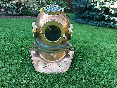Original Russian 3-bolt Diving helmet with top porthole. Made in 1979.