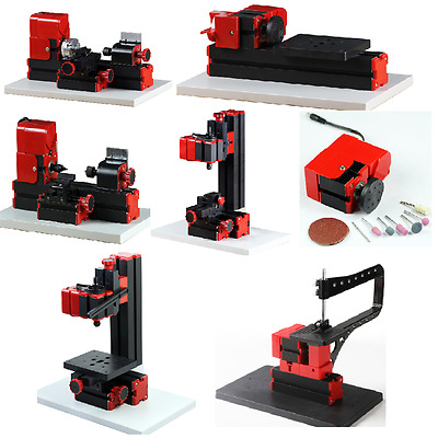 6in1 kit With Bow Arm Machine DIY Jigsaw Milling Mini Lathe Drilling Model Make