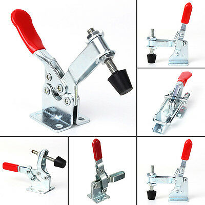 Anti-Slip Holding Capacity Stainless Steel Pull Action Toggle Clamp Red Handle