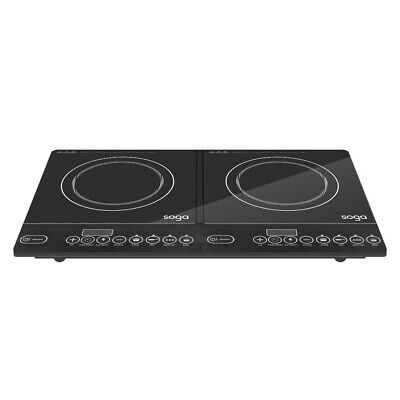 AU Electric Induction Cooktop Cooker Double Two 2 Burner Hot Plate 1 Yr Warranty