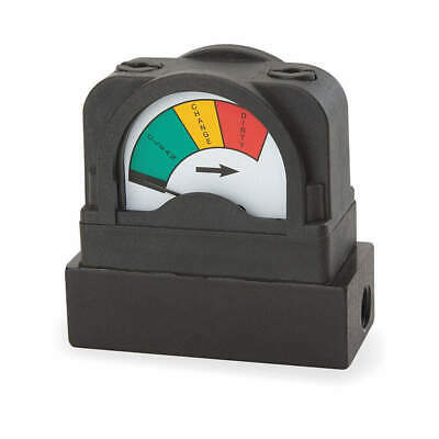 MIDWEST INSTRUMENT Pressure Indicator,0 to 25 psi, 555A-25.0
