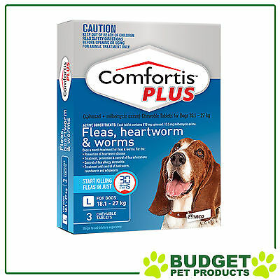 Comfortis Plus For Dogs Blue Large 18.1-27kg 3 Pack