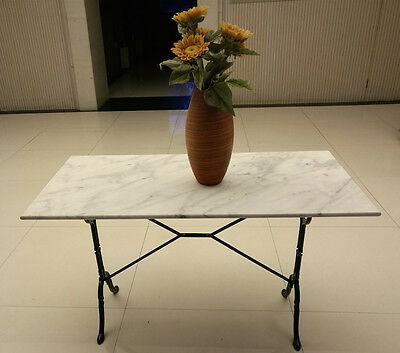 ROOMY Cafe Table 120x60cm White Marble Top DELIVERED** Quantity Discounts Apply!