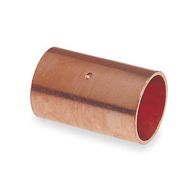 """NIBCO Coupling,Dimple Stop,Wrot Copper,1-1/2"""", 600DS 11/2"""