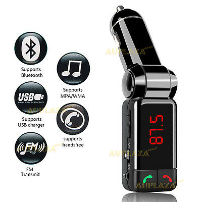 Bluetooth FM Transmitter Car Charger MP3 Player USB Car Kit for iPhone Samsung