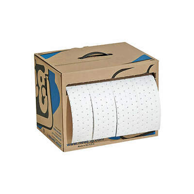 NEW PIG Polypropylene Absorbent Roll,Oil-Based Liquids,White, MAT442, White