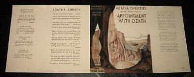 APPOINTMENT WITH DEATH - 1938 by Agatha Christie - Facsimile Dustjacket Only