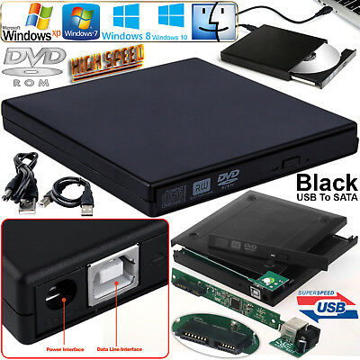 Laptop USB To SATA CD DVD Combo RW Rom Drive External Case Cover Caddy Enclosure