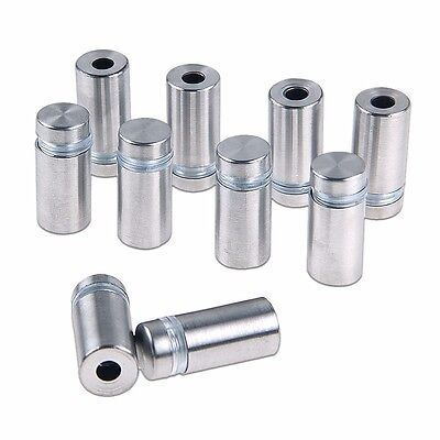 10Pcs Stainless Stand off Bolts Mount Standoff Sign Advertisement Fixing 12x25mm