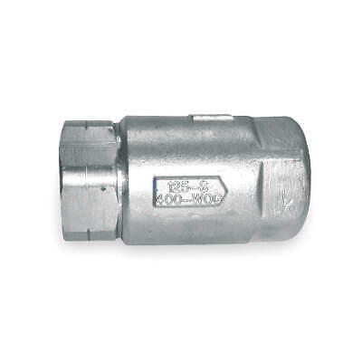 "APOLLO Ball Cone Check Valve,SS,1-1/4"",FNPT, 6210601"