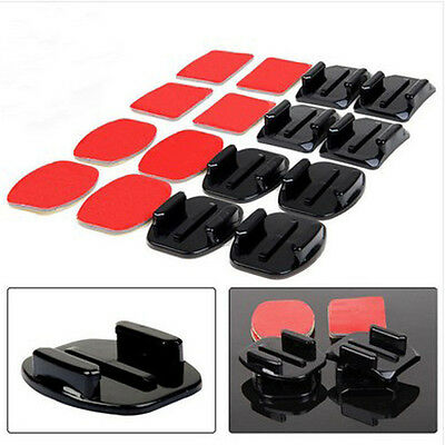 4X Flat Curved Adhesive Mount Helmet Accessories For Gopro hero 2/3 /3+/4 suit