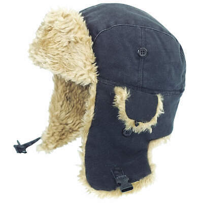 TOUGH DUCK 100% Cotton Duck Winter Hat, Duck, Black, L, I15016, Black