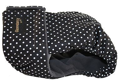 Glenndarcy Female Dog Season Nappy Diaper I Urine Incontinence I Dotty Black