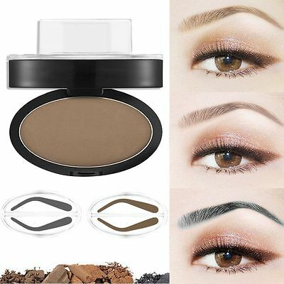 Natural Eyebrow Powder Makeup Brow Stamp Seal Palette Definition Tool Waterproof
