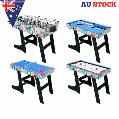 4 in 1 Foldable Game Table Foosball/Hockey/Table Tennis/Pool Kids Christmas Gift