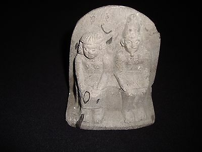 Rare Ancient Egyptian Sitting Isis and Hathor Reigned Egypt 1550-1292 B.c.