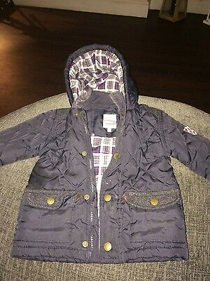 babies junior j navy coat age 18-24 months
