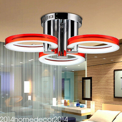 Modern Simple Fashion Stainless Steel Acrylic Flush Mount Ceiling Light 3Lights