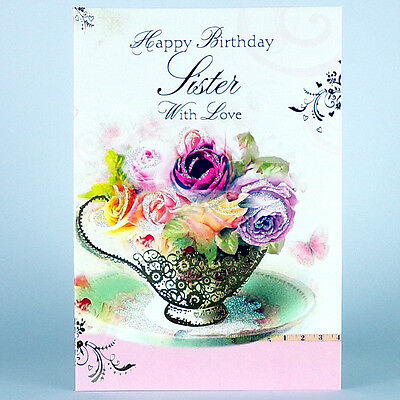 Sister Happy Birthday Card With Insert Especially For You