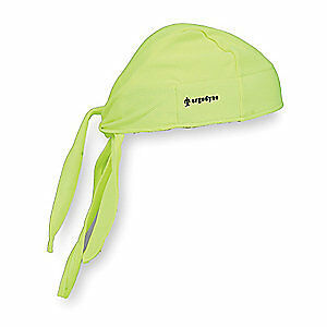 CHILL-ITS BY ERGODYNE Terrycloth Dew Rag,Lime,Universal, 6615, Lime