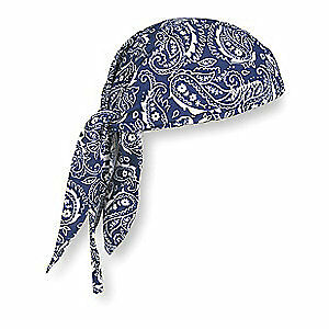 CHILL-ITS BY ERGODYNE Terrycloth Dew Rag,Navy,Universal, 6615, Blue