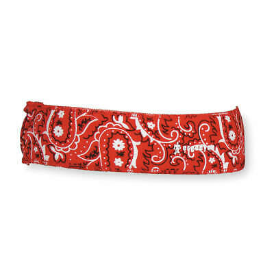 CHILL-ITS BY ERGODYNE Headband,Red,One Size,Terrycloth, 6605, Red