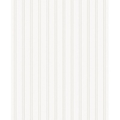 Graham & Brown Paintable Prepasted Beadboard Stripes Texture Wallpaper, White