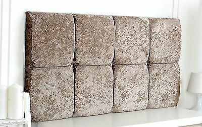 Diamante Deluxe Crushed Velvet Headboard Choose Your Size + Colour + Free P & P!