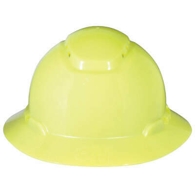 3M Hard Hat,4 pt. Ratchet,Hi-Vis Ylw, H-809V, Hi-Visibility Yellow