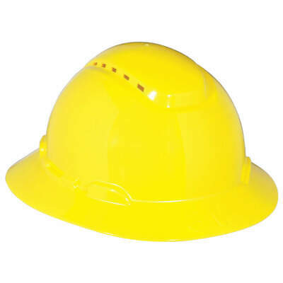 3M Hard Hat,4 pt. Ratchet,Ylw, H-802V, Yellow