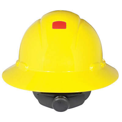 3M Hard Hat,4 pt. Ratchet,Ylw, H-802R-UV, Yellow