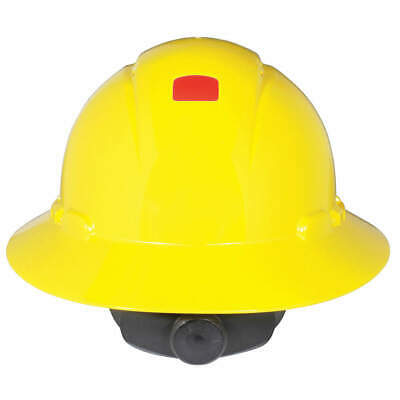 3M Hard Hat,4 pt. Ratchet,Ylw, H-802V-UV, Yellow