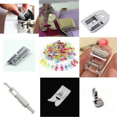 New Presser Foot Press Feet For Brother Singer Domestic Sewing Machine Silver 1x