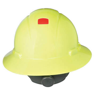 3M Hard Hat,4 pt. Ratchet,Hi-Vis Ylw, H-809V-UV, Hi-Visibility Yellow