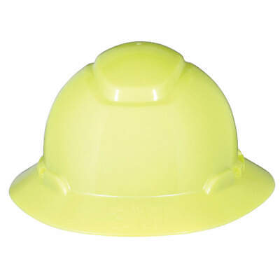 3M Hard Hat,4 pt. Ratchet,Hi-Vis Ylw, H-809R, Hi-Visibility Yellow