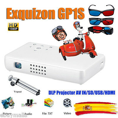 PORTABLE PROYECTOR Exquizon DLP MINI AV IN/SD/USB/VGA/HDMI HOME CINEMA PELÍCULA