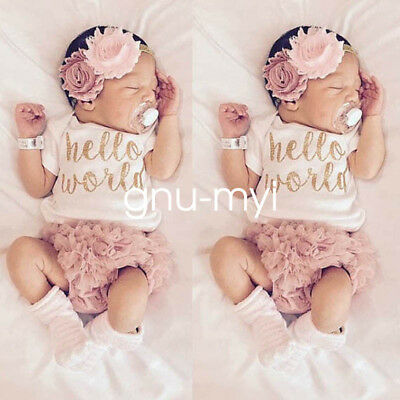Summer Newborn Baby Girls Lace Bodysuit Romper Jumpsuit Outfits Sunsuit Clothes