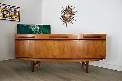 DELIVERY £60 Mid Century Retro Danish Designed Teak Bow Front Sideboard