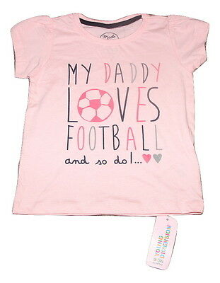Young Dimensions | 18-24 Months | Pink | My Daddy Loves Football And So Do I