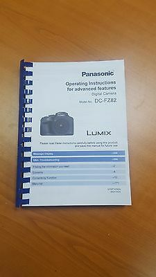 Panasonic Lumix Dmc Fz82 Instruction Manual User Guide Printed 311 Pages A5