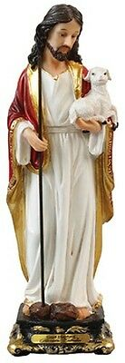 THE GOOD SHEPHERD - JESUS - 130mm STATUE CRUCIFIXES CANDLES PICTURES LISTED 935