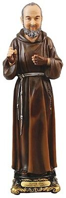 PADRE PIO - SAINT - 200mm RESIN STATUE - CRUCIFIXES CANDLES PICTURES LISTED 981