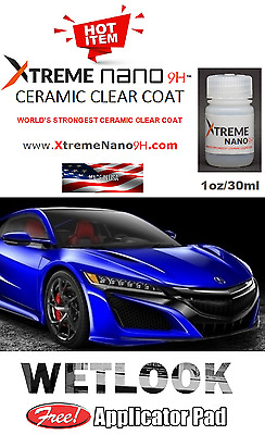 "CERAMIC CAR PAINT PROTECTION 9H NANO COATING  ""WET LOOK"" - 1oz/30ml  MADE IN USA"
