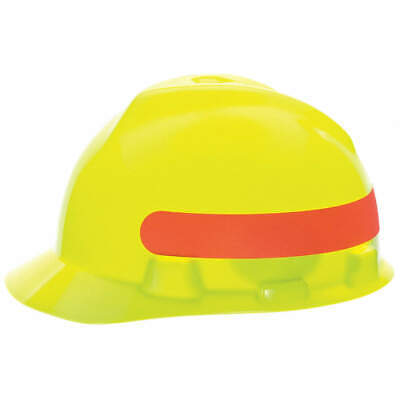 Hard Hat,4pt.Rtcht,Hi-Vis Ylw/Grn, 10102233, Hi-Visibility Yellow/Green with Red